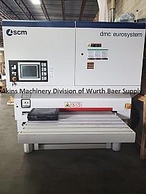 "DMC Eurosystem 1350 M4 RRRS four head 53"" wide belt sander"